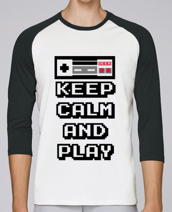 T-Shirt Stanley Stella baseball col rond unisex KEEP CALM AND PLAY par SG LXXXIII