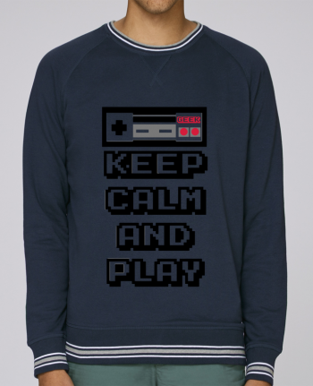 Sweat Col Rond Homme Stanley Strolls Tipped KEEP CALM AND PLAY par SG LXXXIII