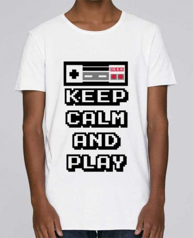T-shirt Homme Oversized Stanley Skates KEEP CALM AND PLAY par SG LXXXIII