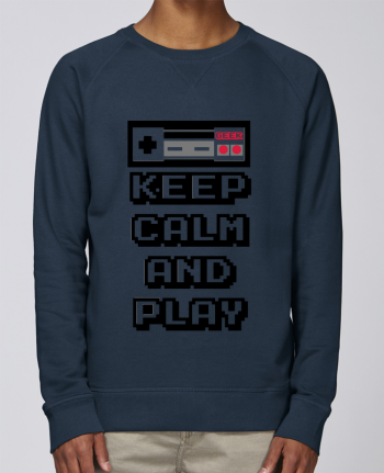 Sweat Col Rond Homme Stanley Strolls KEEP CALM AND PLAY par SG LXXXIII