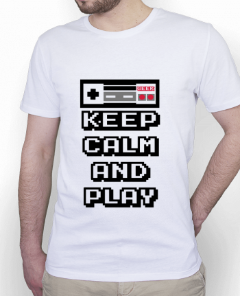 T-Shirt Homme Stanley Hips KEEP CALM AND PLAY par SG LXXXIII