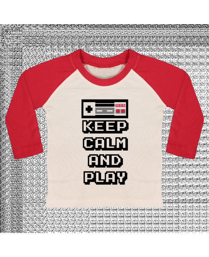 T-shirt Bébé Baseball Manches Longues KEEP CALM AND PLAY par SG LXXXIII
