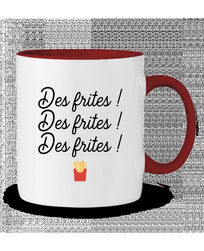 Mug en Céramique Bicolore Des frites ! Original t-shirt