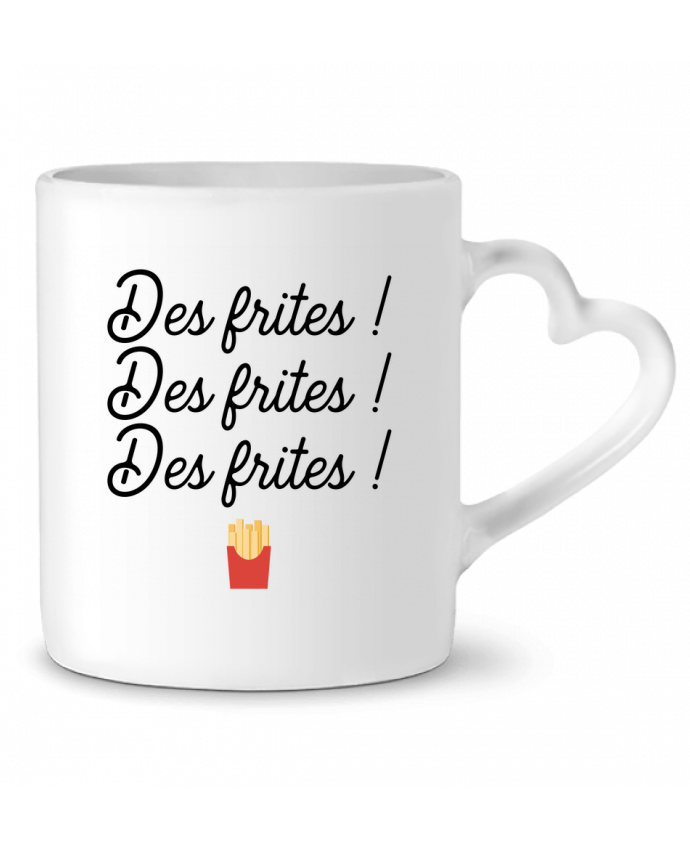 Mug Coeur Des frites ! par Original t-shirt