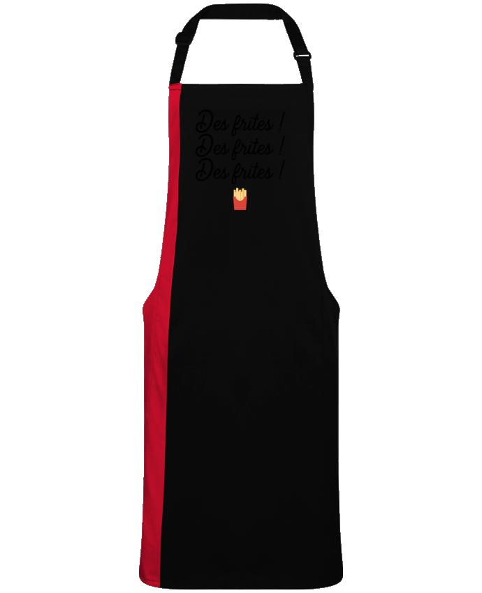 Tablier Long Bicolore Des frites ! par  Original t-shirt