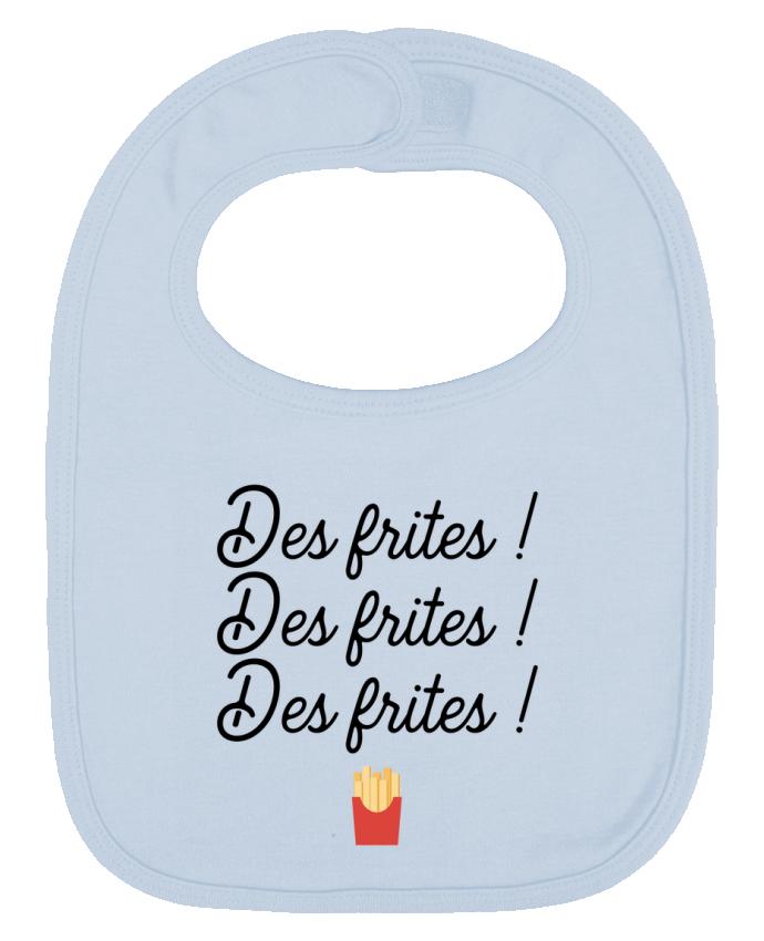 Bavoir Uni et Contrasté Des frites ! par Original t-shirt