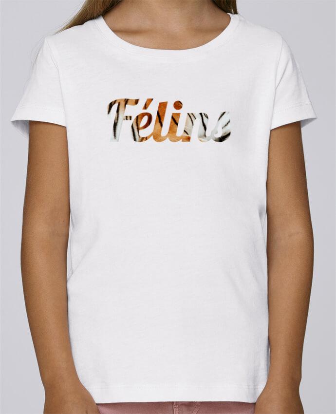 T-shirt Fille Mini Stella Draws Félins by Ruuud par Ruuud