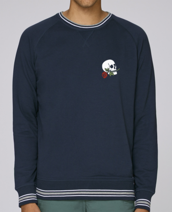 Sweat Col Rond Homme Stanley Strolls Tipped Skull flower par Ruuud