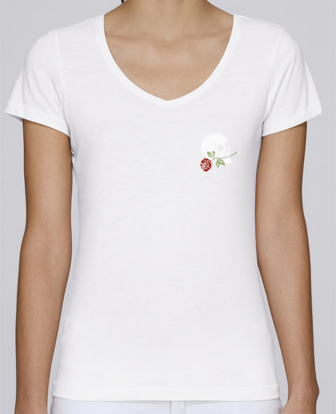 T-shirt Femme Col V Stella Chooses Skull flower par Ruuud