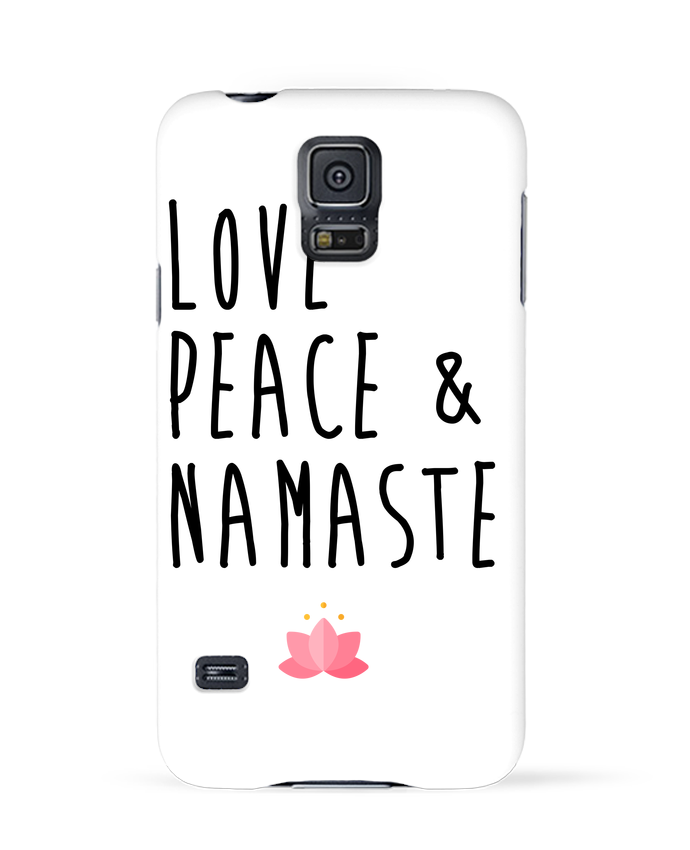 Coque 3D Samsung Galaxy S5 Love, Peace & Namaste par tunetoo