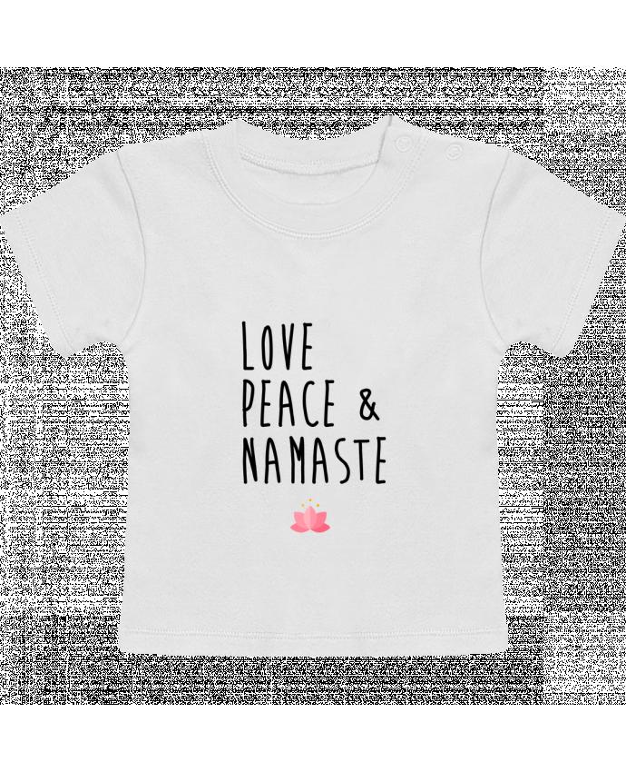 T-Shirt Bébé Manches Courtes Love, Peace & Namaste manches courtes du designer tunetoo