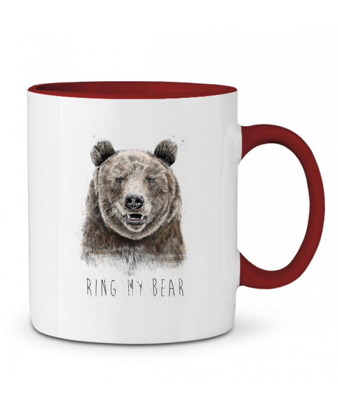 Mug en Céramique Bicolore Ring my bear Balàzs Solti