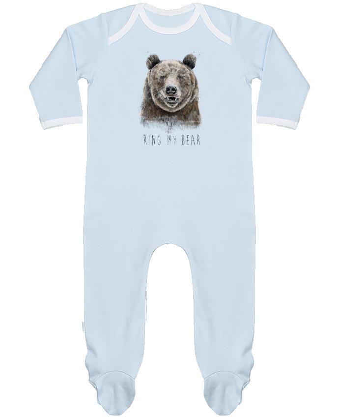 Pyjama Bébé Manches Longues Contrasté Ring my bear par Balàzs Solti