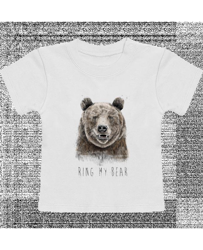 T-Shirt Bébé Manches Courtes Ring my bear manches courtes du designer Balàzs Solti