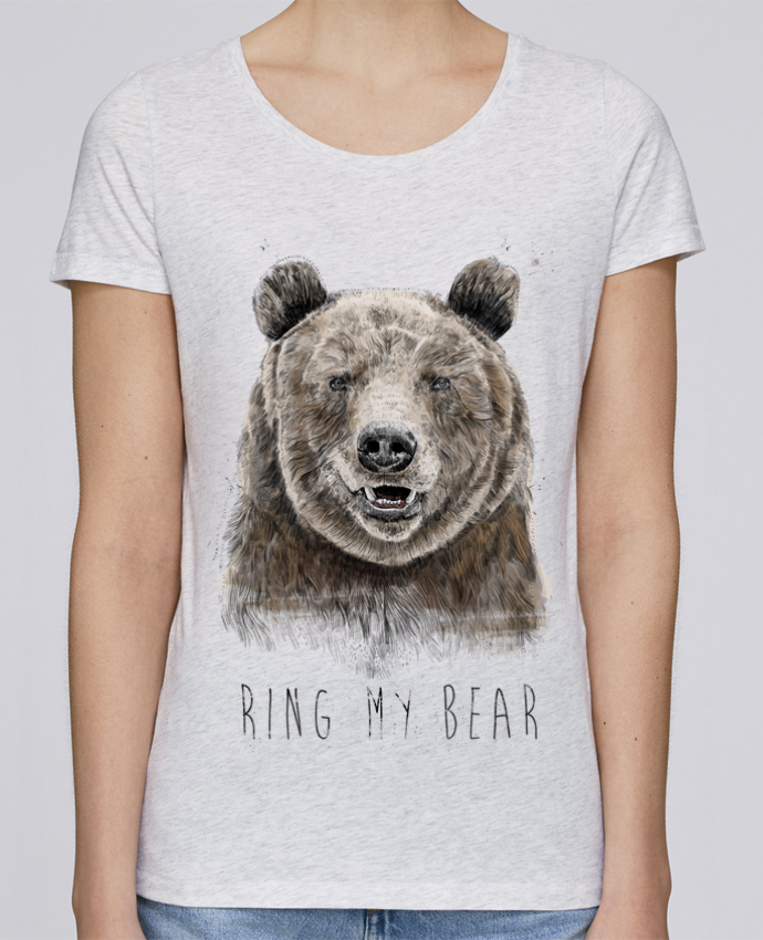 T-shirt Femme Stella Loves Ring my bear par Balàzs Solti