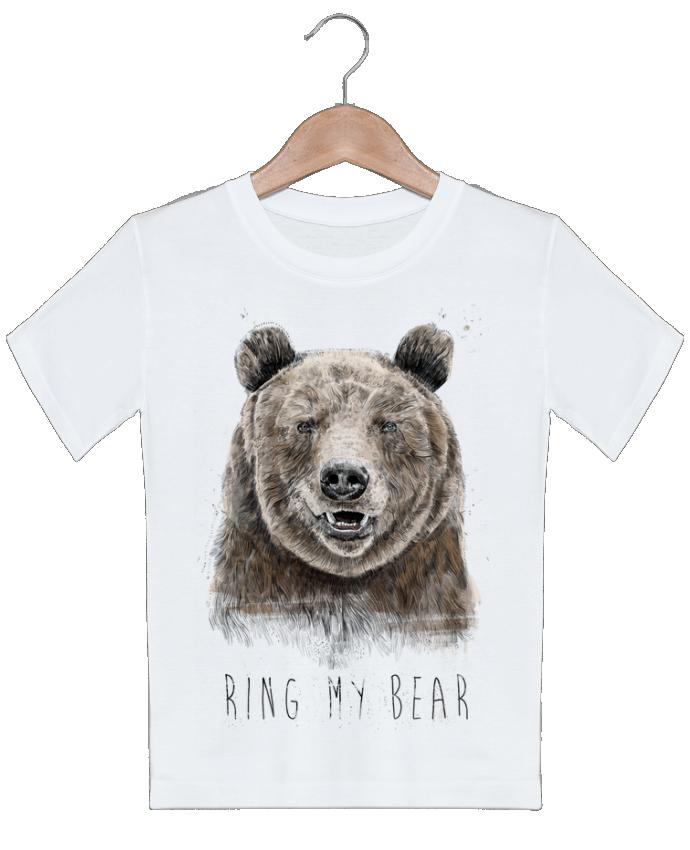 T-shirt garçon motif Ring my bear Balàzs Solti