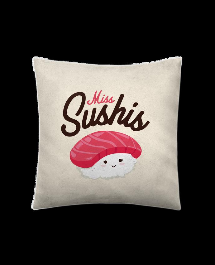 Coussin Toucher Peau de Pêche 41 x 41 cm Miss Sushis par Nana