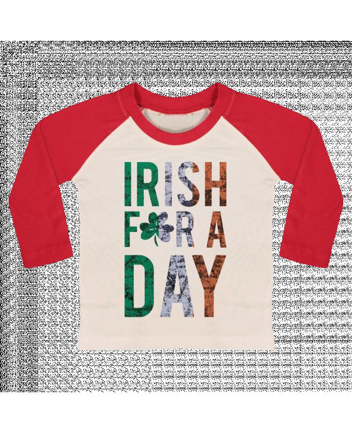 T-shirt Bébé Baseball Manches Longues Irish for a day par tunetoo