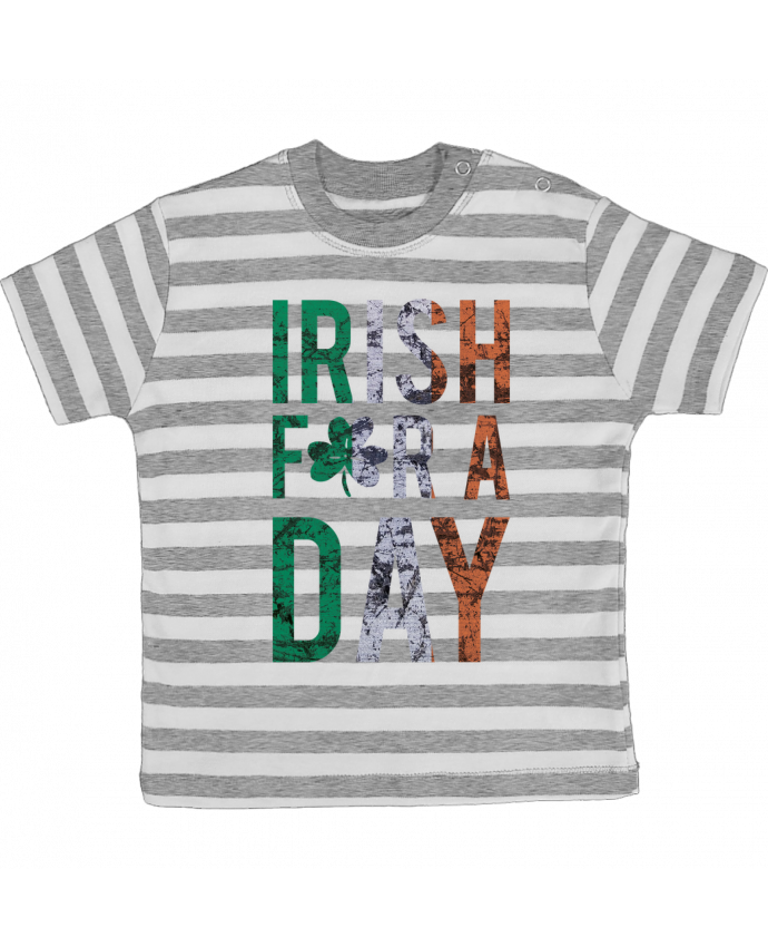 T-shirt Bébé à Rayures Irish for a day par tunetoo