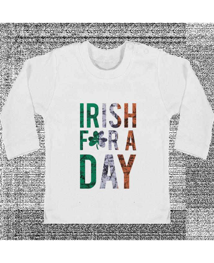 T-shirt Bébé Manches Longues Boutons Pression Irish for a day manches longues du designer tunetoo