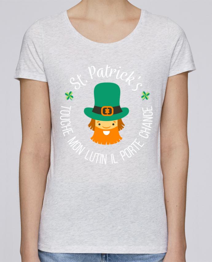T-shirt Femme Stella Loves Saint Patrick, Touche mon lutin il porte chance par tunetoo