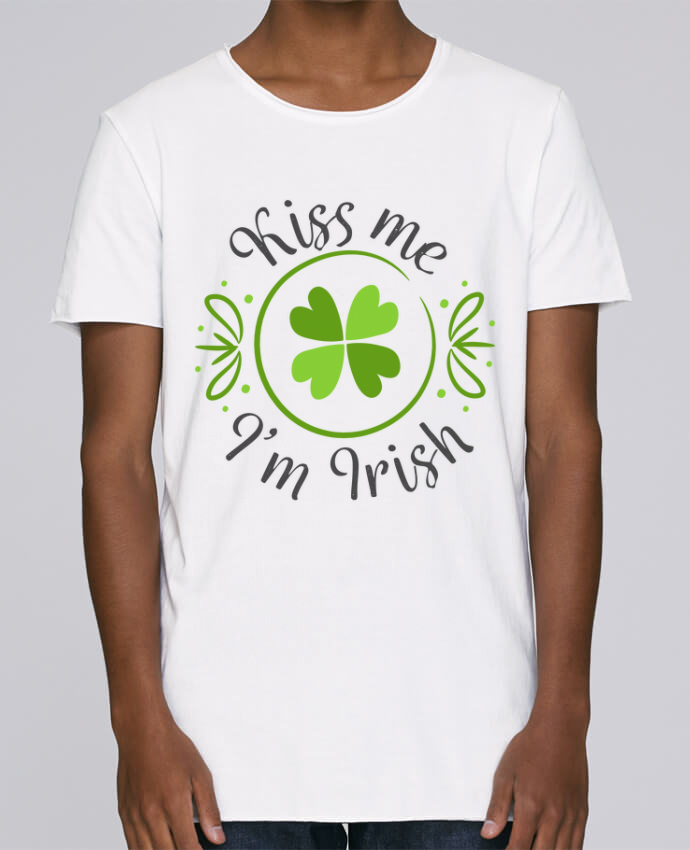 T-shirt Homme Oversized Stanley Skates Kiss me I'm Irish par tunetoo