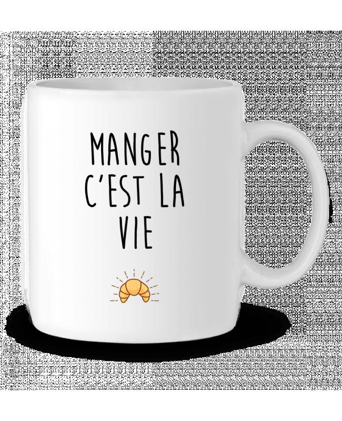 Mug en Céramique Manger c'est la vie par tunetoo