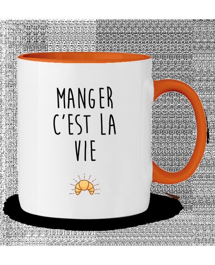 Mug bicolore Manger c'est la vie tunetoo