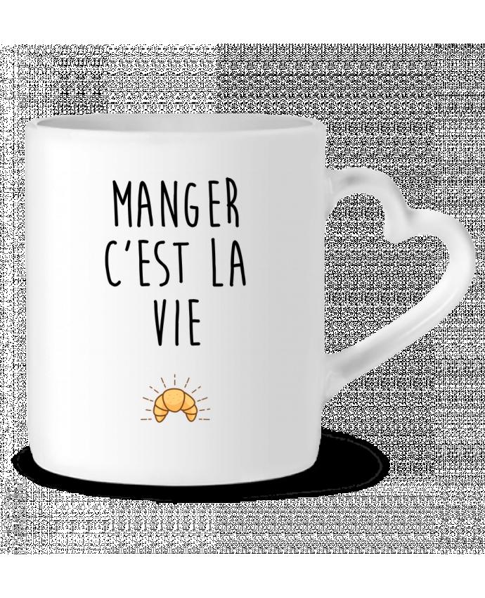 Mug Coeur Manger c'est la vie par tunetoo