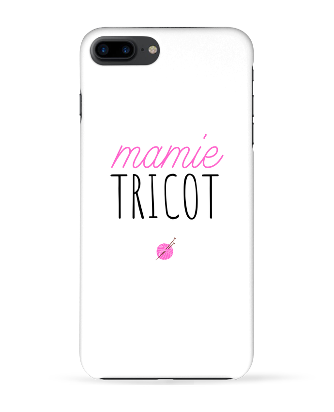 Coque 3D Iphone 7+ Mamie tricot par tunetoo