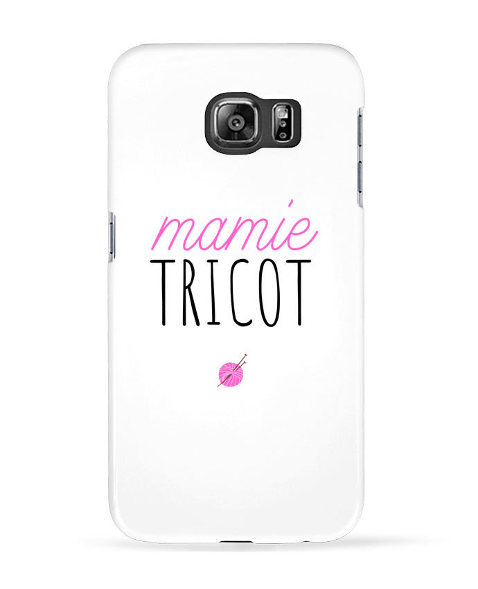 Coque 3D Samsung Galaxy S6 Mamie tricot - tunetoo