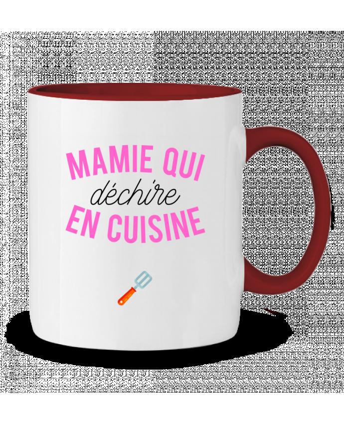 Mug en Céramique Bicolore Mamie qui déchire en cuisine tunetoo