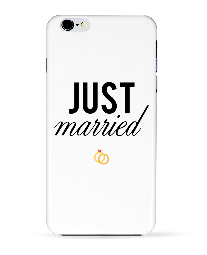 Coque 3D Iphone 6+ Just married de tunetoo
