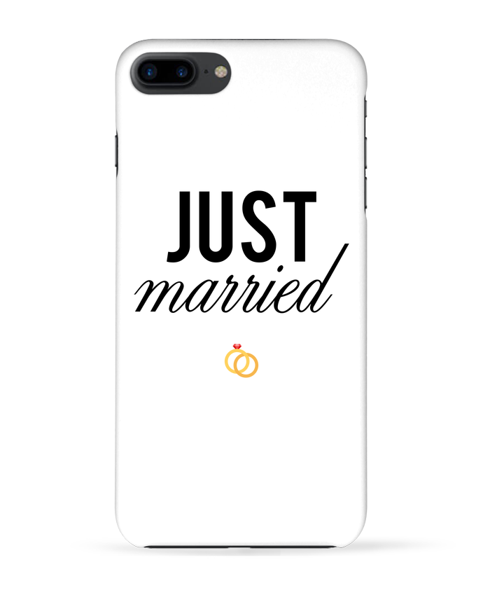 Coque 3D Iphone 7+ Just married par tunetoo