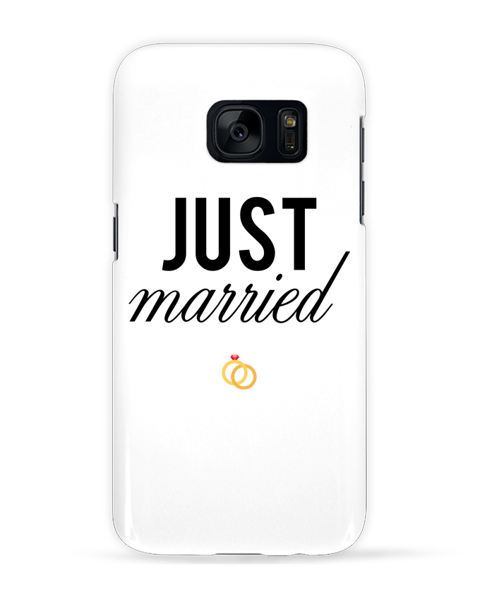 Coque 3D Samsung Galaxy S7 Just married par tunetoo