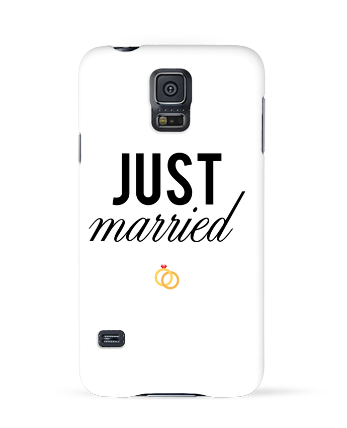 Coque 3D Samsung Galaxy S5 Just married par tunetoo
