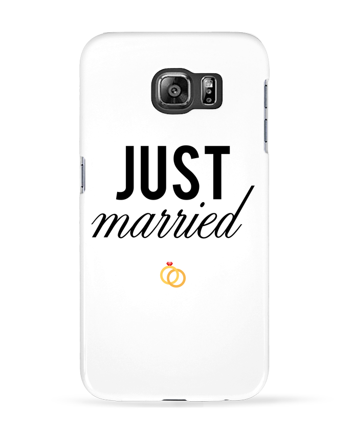 Coque 3D Samsung Galaxy S6 Just married - tunetoo