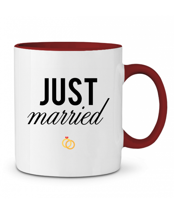 Mug en Céramique Bicolore Just married tunetoo