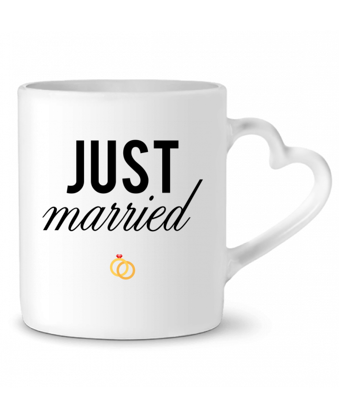 Mug Coeur Just married par tunetoo