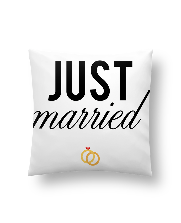 Coussin Synthétique Doux 41 x 41 cm Just married par tunetoo