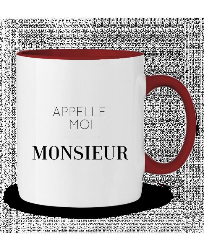 Mug en Céramique Bicolore Appelle moi Monsieur tunetoo