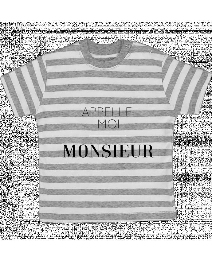 T-shirt Bébé à Rayures Appelle moi Monsieur par tunetoo