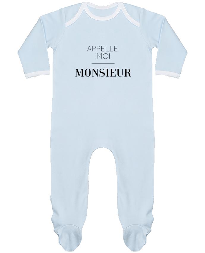 Pyjama Bébé Manches Longues Contrasté Appelle moi Monsieur par tunetoo