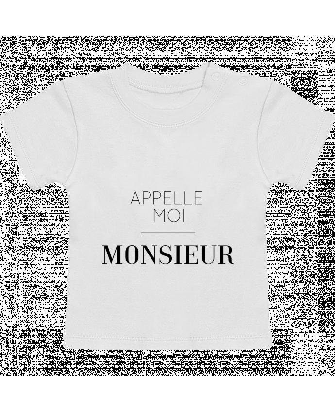 T-Shirt Bébé Manches Courtes Appelle moi Monsieur manches courtes du designer tunetoo