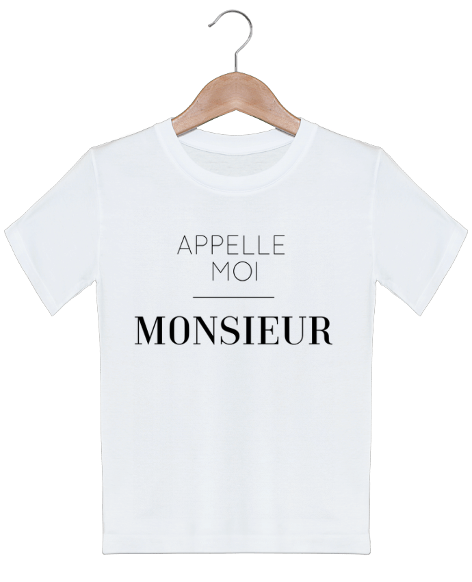T-shirt garçon motif Appelle moi Monsieur tunetoo