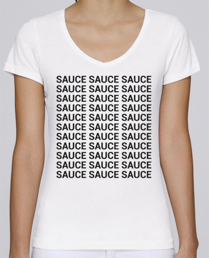 T-shirt Femme Col V Stella Chooses Sauce par tunetoo