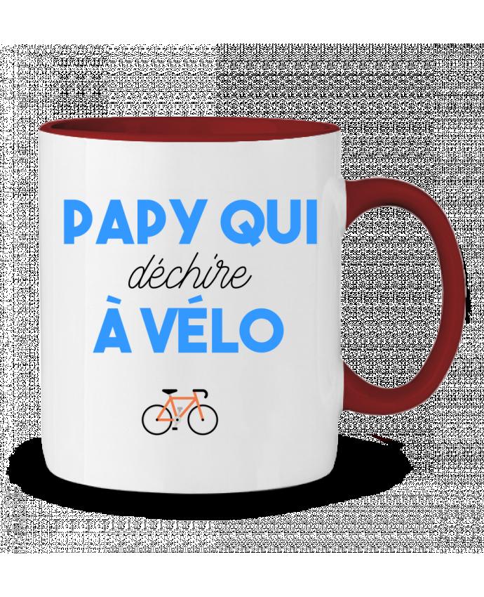 Mug en Céramique Bicolore Papy qui déchire à Vélo tunetoo