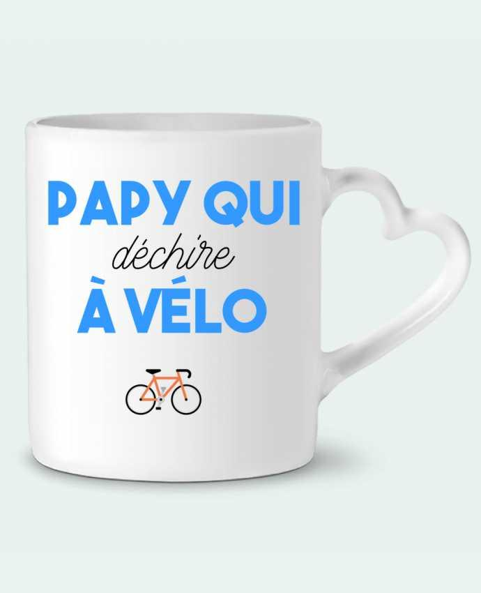 Mug Coeur Papy qui déchire à Vélo par tunetoo
