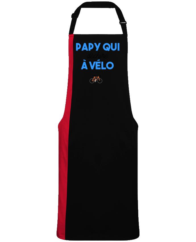 Tablier Long Bicolore Papy qui déchire à Vélo par  tunetoo