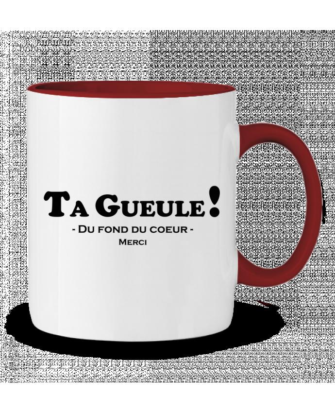 Mug en Céramique Bicolore Ta geule ! tunetoo